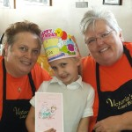 Vickie, Lila and Judy celebrating her birthday